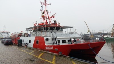 Fugro renamed the vessel 'Fugro Mercator' (from its earlier name of 'Meridian') while at DSHl