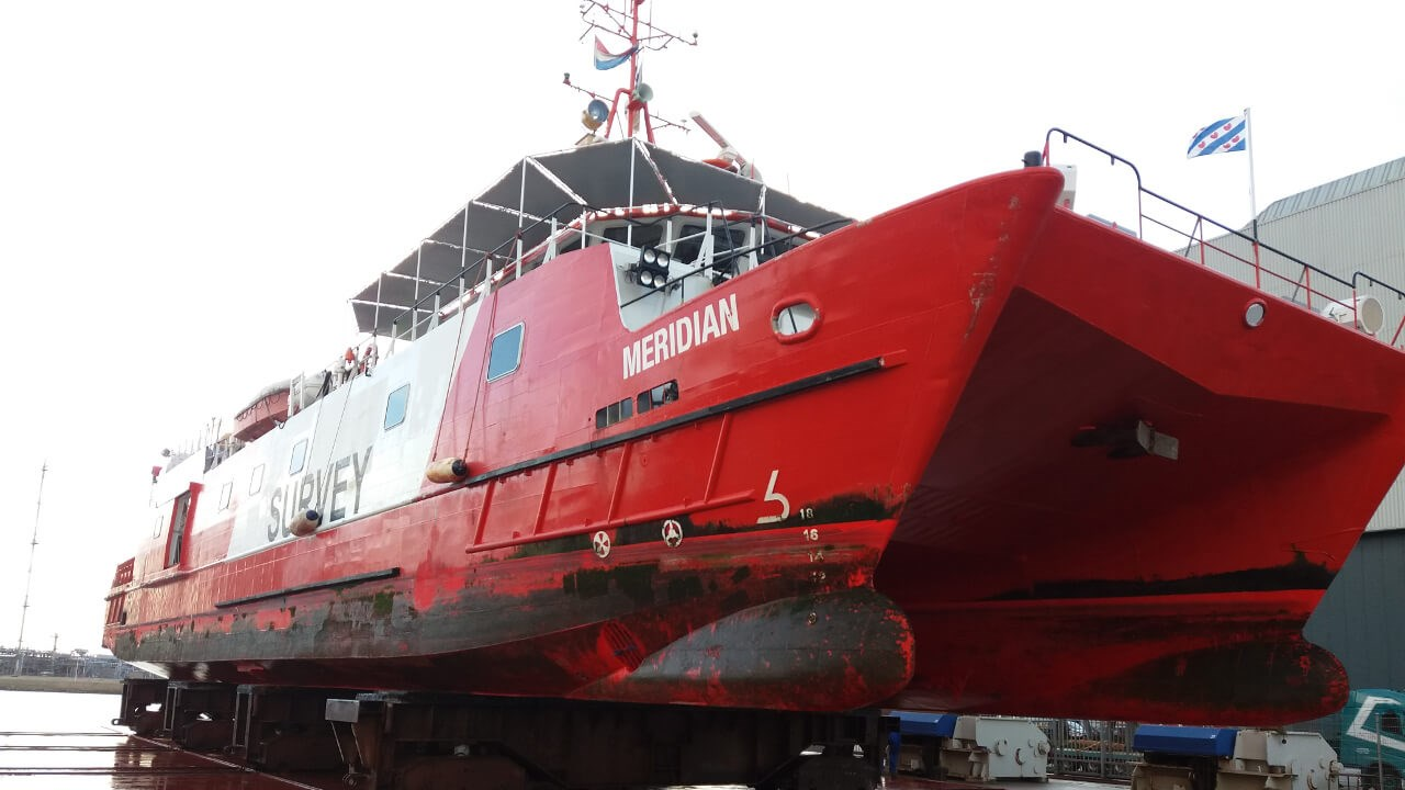 'Fugro Mercator' is considered a 'one- off' vessel in the near shore geophysical industry