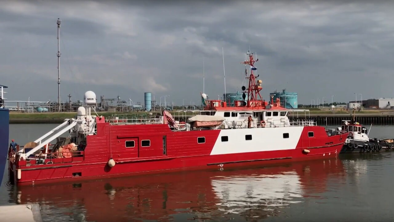 'Fugro Mercator' at Damen Shiprepair Harlingen