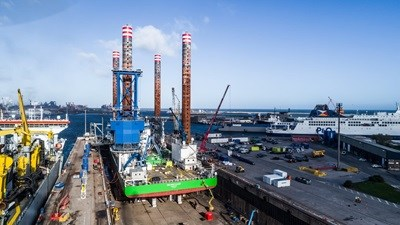 Wind farm jack-up rig 'Sea Installer' refit