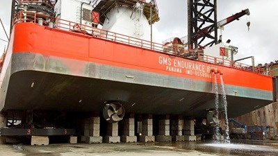 In 2018 the 76-metre, self-propelled, self-elevating, accommodation jack-up vessel 'GMS Endurance' came to Damen Shiprepair Dunkerque (DSDu) for the removal of its spud-can extensions ahead of a new project.