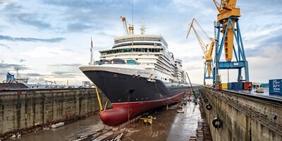 Cruise ship 'Queen Elizabeth' at Damen Shiprepair Brest