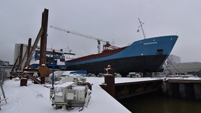 A general cargo carrier just under 90 metres in length, the Nordborg is strengthened for heavy cargoes and is Ice Class 1A.