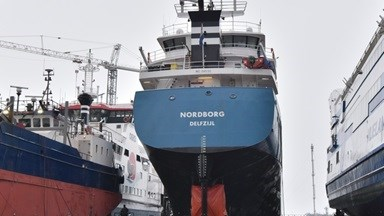 Royal Wagenborg's 'Nordborg' at Damen Shiprepair Harlingen
