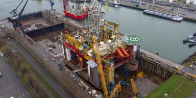 Drilling rig 'Stena Don' at DVR dock