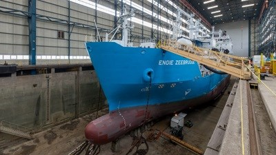 LNG bunker vessel at Damen Shiprepair Vlissingen