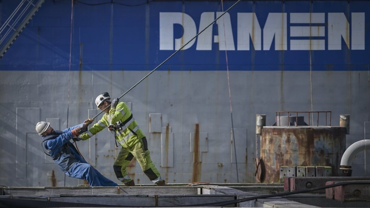 Damen Shiprepair Dunkerque workers