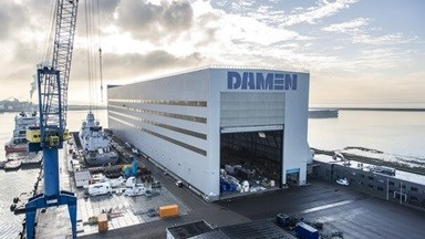 Damen Shiprepair Vlissingen covered drydock