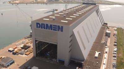 Covered Graving Dock at Damen Shiprepair Vlissingen.
