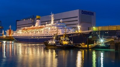 "Damen Shiprepair Vlissingen ""Marco Polo"" cruise vessel"