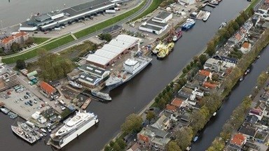 Damen Shipyards Den Helder Aerial View