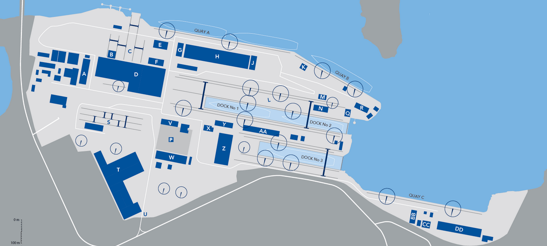 Damen Shipyards Mangalia yard map